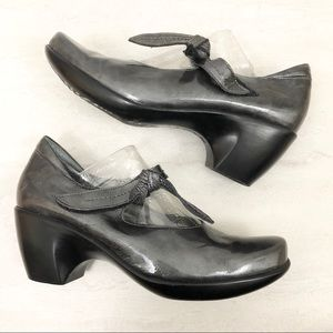 Naot Metallic Silver Mary Jane Clogs
